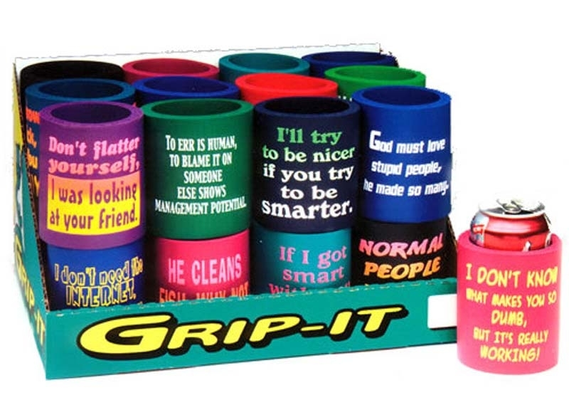 CD GRIP IT CAN COOLERS FUNNY 24/BX