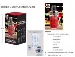 COCKTAIL SHAKER WITH RECIPE GUIDE 12/BX