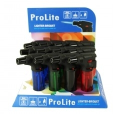 PRO-LITE - CLEAR - REFILLABLE TORCH 12/BX