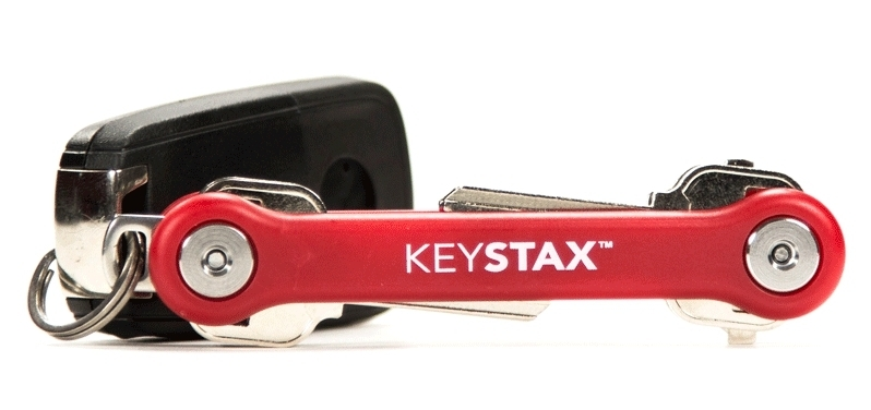 KEYSTAX COMPACT KEY HOLDER - RED 12/BX